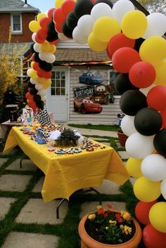 Cars birthday party!