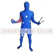 Lycra Spandex Australia Flag Zentai Suit