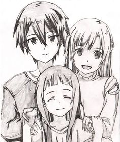sword art online kirito and asuna drawing - Google Search