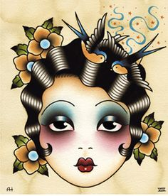 Old school tattoo style illustrations from Angelique Houtkamp whats not to love! Trendy Tattoos, Love Tattoos, Body Art Tattoos, New Tattoos, Arabic Tattoos, Dragon Tattoos, Tatoos, Tattoo Old School, Flash Art Tattoos
