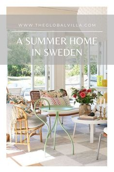 A bright and beautiful home that perfectly reflects the simple, calm and natural spirit of its owner. Swedish Interiors, Sweden House, Swedish Style, Outdoor Furniture Sets, Outdoor Decor, Scandinavian Home, Weekender, Beautiful Homes, Spirit
