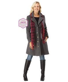 LJ175 - Boutiquee Coat And Scarf  - Boutiquee Coat And Scarf, Women's Coats and Jackets, Women's Clothing, Clothing, Accessories, Joe Browns