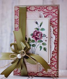 Vintage card uses a digital image from @Sue H Gifford Secrets.  The image was colored using Inktense Pencils. by jaclyn