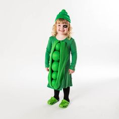 Black Eyed Pea - DIY Halloween Costumes for Kids - Southernliving. Looking for an easy, doable disguise for your little one this Halloween? You're in luck. Pull together this head-to-toe green getup in under an hour. Get the how-tos here.