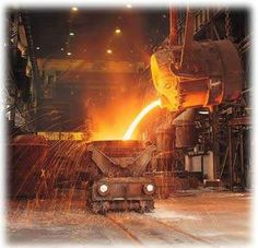 Iron casting process - approx 20 inches of molten steel at a temperature of about 1900 deg.C!!!
