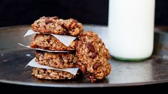 Oatmeal Banana Chocolate Breakfast Cookies - 4k video