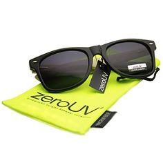 Eco-Friendly Genuine Bamboo Temple Wayfarer Sunglasses (Shiny-Black)
