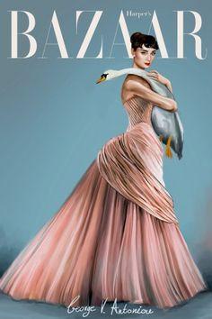 George Vantoniou's Gorgeous Audrey Hepburn Illustrations