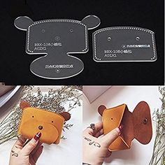 NW Coin Purse Acrylic Template Leather Pattern Acrylic Leather Pattern Leather Templates for Wallet Leather Diy Crafts, Leather Gifts, Leather Bags Handmade, Leather Projects, Leather Craft, Handmade Handbags, Coin Purse Pattern, Leather Wallet Pattern, Purse Patterns