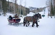 Sleigh ride, Deer Valley Resort, Park City Utah (Courtesy of Deer Valley Resort)