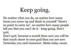 Exactly keep going
