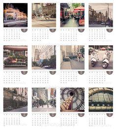 Melbourne city photo calendar 2012