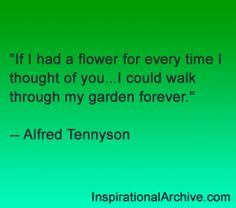 Tennyson quote on flowers
