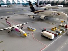 No Point Airport - Diorama Airport BKK (Bangkok) series 'look-a-like'. Parking in front of Terminal - Concourse C/B