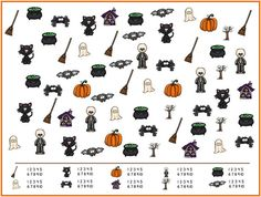 Printables for Kids: Cute Halloween I Spy Game that practices counting, visual discrimination, and number recognition.