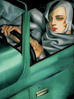 ¨Autoretrato: Tamara en un Bugatti verde¨.