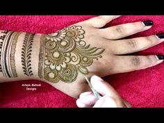 New Beautiful and Easy Full Hand Mehndi Design Full Hand Mehndi Designs, Mehndi Designs For Fingers, Mehndi Designs For Hands, Henna Designs, Tattoo Designs, Mehndi Video, Mehndi Images, Mehendi, Eyeliner