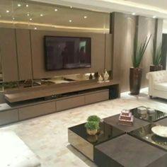Tv Cabinet Design, Tv Wall Design, House Design, Living Room Tv, Home And Living, Modern Interior, Home Interior Design, Tv Wall Decor, Home Tv