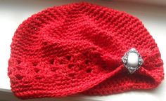 Baby Hat with Vintage Inspired Button by CountryBabyHandmade, $13.99