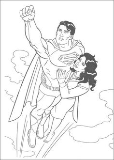 Free Superheroes Superman Coloring Pages For Kids Picture 12 550x770