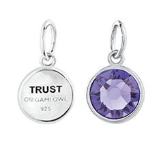 """Trust"" Tanzanite Swarovski Crystal Pendant - © Origami Owl, LLC www.jamielackey.origamiowl.com"
