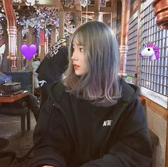 . follow me #Rynn Korean Colors, New Haircuts, Korean Beauty, Ulzzang Short Hair, Aesthetic Hair, Korean Best Friends, Uzzlang Girl, Tumblr Girls, 18th