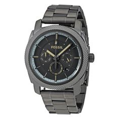 bc6d1738c9b Men s Fossil Machine Chronograph Gunmetal Tone Steel Watch FS5172
