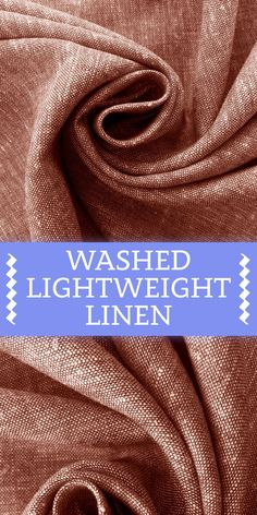 Washed Lightweight Linen Rayon Blend in Chestnut