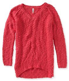 Knit V-Neck Sweater -