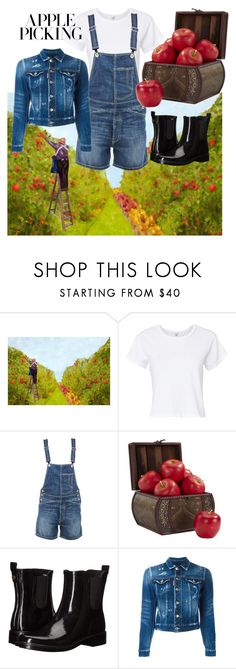 """Picking apples"" by ell-dee ❤ liked on Polyvore featuring RE/DONE, Dondup, Nearly Natural, Tory Burch, Dsquared2 and picking"