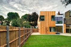 Rear modern houses by mzo tarr architects modern Log Cabins Uk, Log Cabin Homes, Self Build Houses, Eco Buildings, Outdoor Spaces, Outdoor Decor, Brick Building, Traditional House, Interior Styling