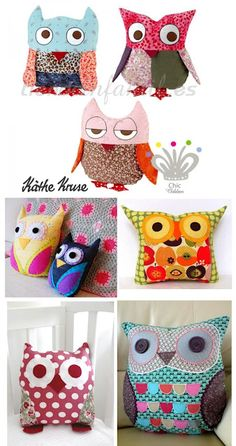 Lots of owl pillow inspiration...
