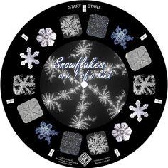 Snowflakes on a custom reel