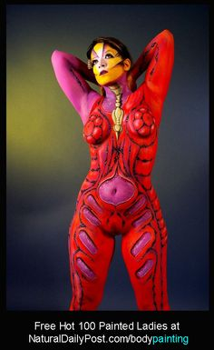 FREE Hot 100 Painted Ladies - Download from http://naturaldailypost.com/bodypainting