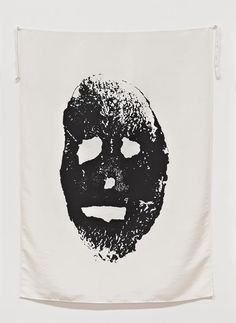 "From The Broad Collection: Mike Kelley, Blood and Soil (Potato Print) (from series ""Pansy Metal/Clovered Hoof""), screenprint on silk, The Broad Art Foundation. Fluxus Movement, Potato Print, Palais Galliera, Jonathan Crane, Night Gallery, Digital Art Gallery, High Art, Pansies, American Artists"