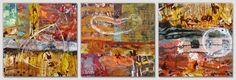 Vojkan Djurdjevic - april 2015. mixed media on canvas, 3 pieces 30x30 cm