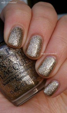 OPI in All Sparkly and Gold (Mariah Carey Holiday 2013 Mini)