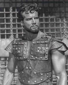 Steve Reeves, American actor (b. Steve Reeves, Golden Age Of Hollywood, Classic Hollywood, Old Hollywood, Hollywood Actor, Marc Singer, Action Movie Stars, Fantasy Movies, Tough Guy