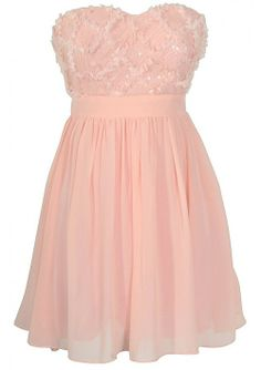 Pink Strapless Chiffon Empire Short Prom Dresses ... This but in a Tiffany blue!!<33