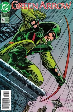 Green Arrow (1987 1st Series) 80 DC comics cover Oliver Queen