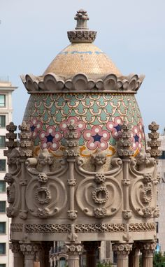Detalle de la Casa Lleó i Morera de Lluís Domènech i Montaner en el #PaseoDeGracia de #Barcelona http://www.viajarabarcelona.org/lugares-para-visitar-en-barcelona/casa-lleo-morera/ #Modernismo (Catalonia)