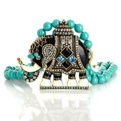 "Heidi Daus ""Michelle's Majestic Mr. Elephanté"" Beaded Drop N 