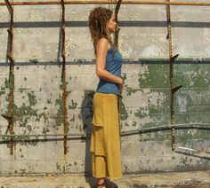 Gaia Conceptions  Ruffle Butt Long Skirt