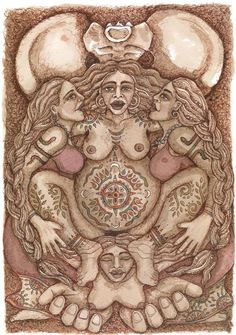 The Midwives by Lucy Pierce This is image is an offering of immense gratitude to all the amazing sisters who have midwifed . Doula, Zodiac Signs Elements, Birth Art, Pregnancy Art, Sacred Feminine, Goddess Art, Moon Art, Les Oeuvres, Fine Art Paper
