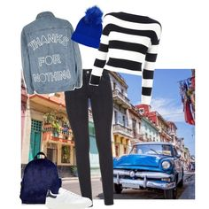 Untitled #1679 by zettirik on Polyvore featuring polyvore fashion style Boutique Moschino River Island Paige Denim adidas Originals Topshop clothing