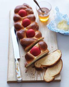 Greek Easter bread (Tsoureki) from Martha Stewart Living Magazine, April 2013