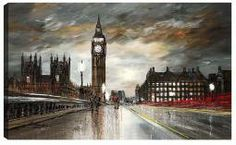 Image of On Westminster Bridge Artwork By Paul Kenton Paul Kenton, Westminster Bridge, Cityscape Art, Famous Places, London Art, Urban Sketching, Art Pictures, Big Ben, Original Paintings