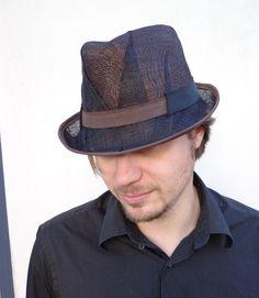 Summer fashion modern black men and women trilby hat by feltgOOOd