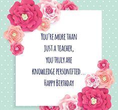 11 Best Birthday Wishes For Teacher Images Birthday Wishes