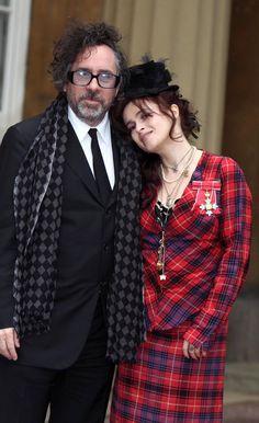 Tim Burton and Helena Bonham Carter at Buckingham Palace, February 22nd